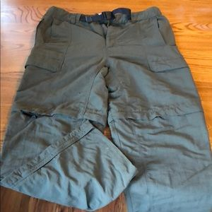 The north face climbing pants. Water resistant. L